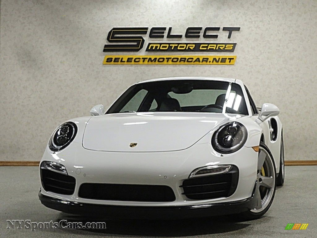 2015 911 Turbo S Coupe - White / Platinum Grey photo #1