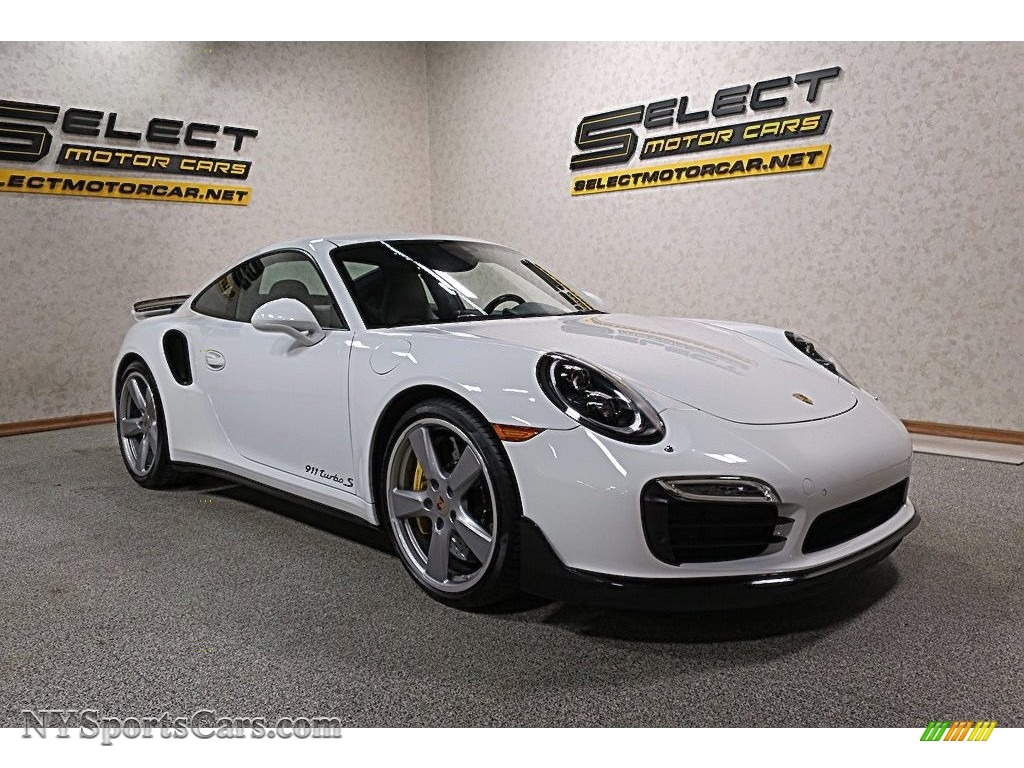 2015 911 Turbo S Coupe - White / Platinum Grey photo #3