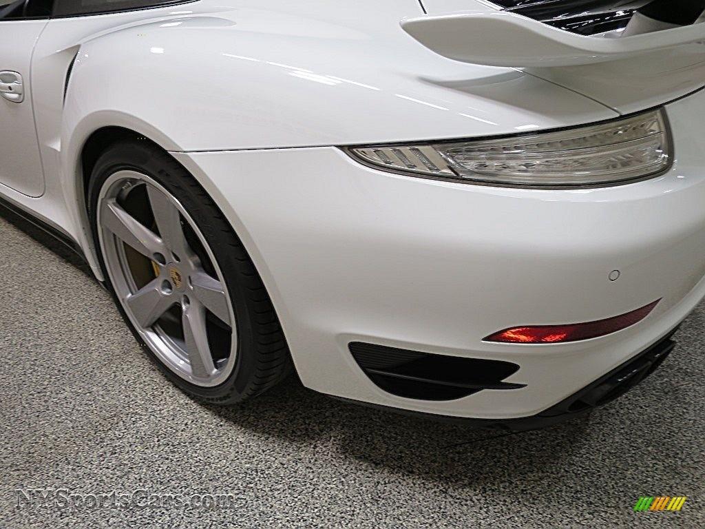 2015 911 Turbo S Coupe - White / Platinum Grey photo #7
