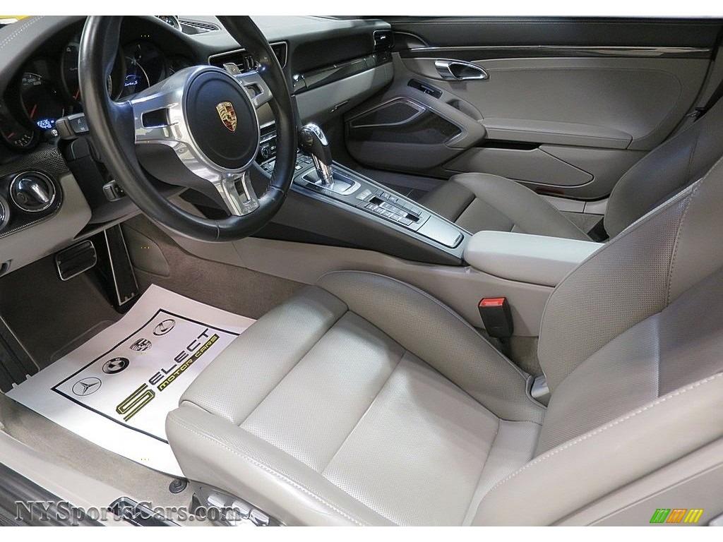 2015 911 Turbo S Coupe - White / Platinum Grey photo #14