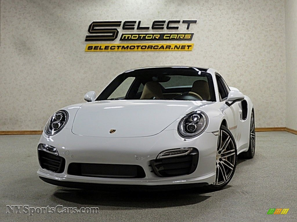 White / Black/Luxor Beige Porsche 911 Turbo S Coupe