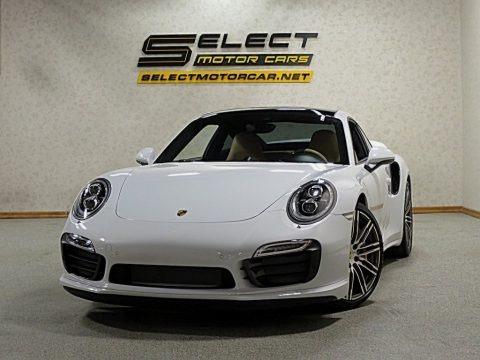 White 2015 Porsche 911 Turbo S Coupe