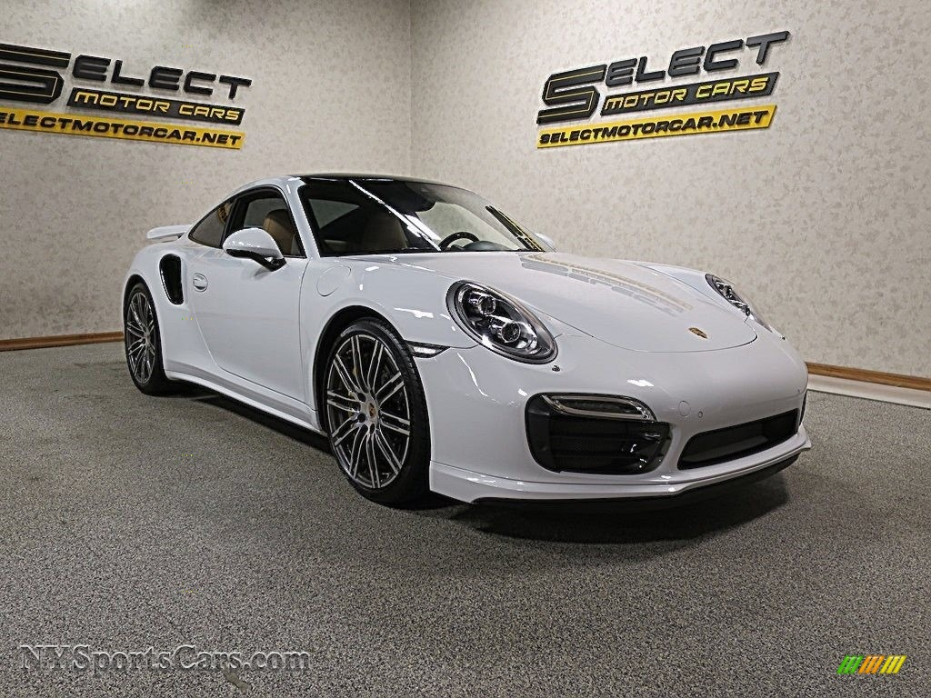 2015 911 Turbo S Coupe - White / Black/Luxor Beige photo #3