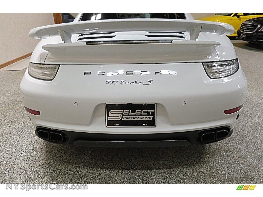 2015 911 Turbo S Coupe - White / Black/Luxor Beige photo #5