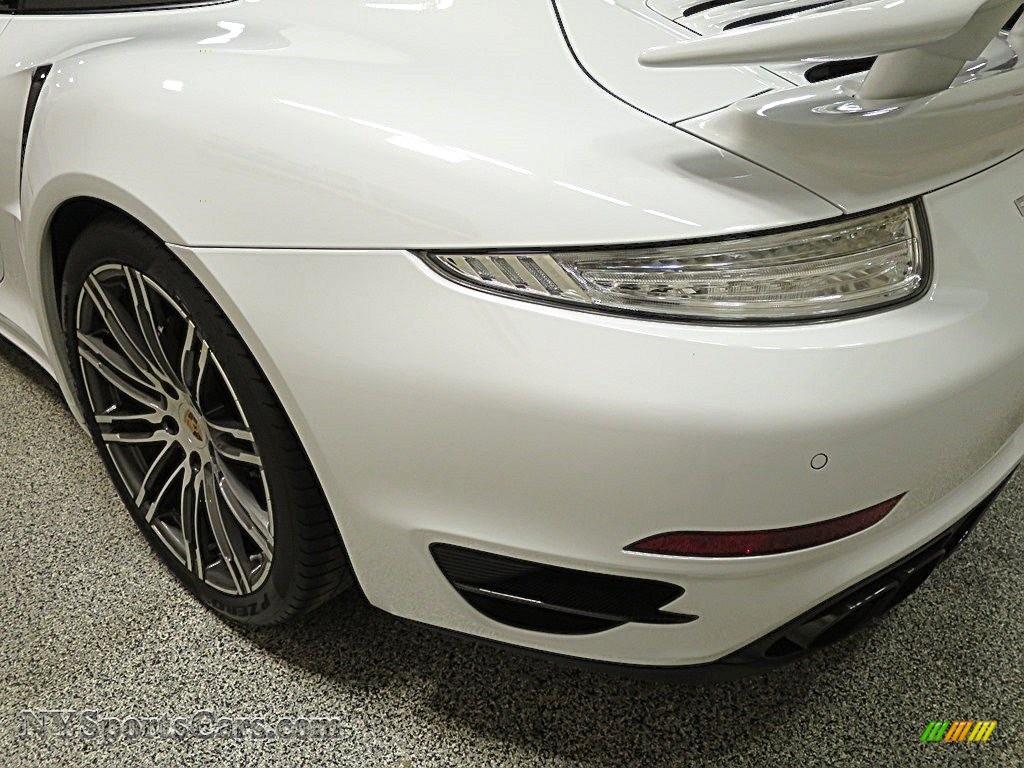 2015 911 Turbo S Coupe - White / Black/Luxor Beige photo #7