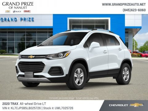 Summit White 2020 Chevrolet Trax LT AWD