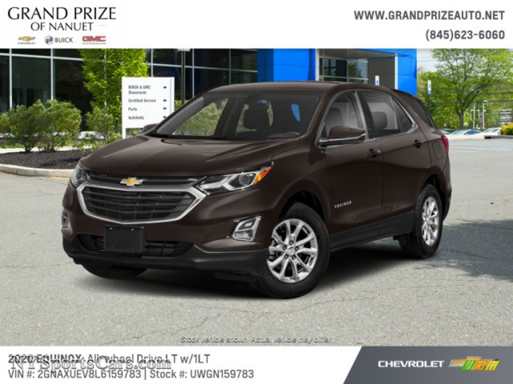 2020 Equinox LT AWD - Chocolate Metallic / Jet Black photo #1