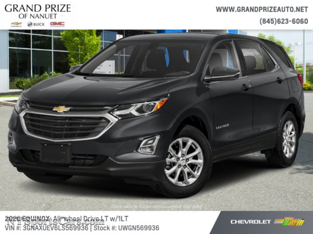 Nightfall Gray Metallic / Jet Black Chevrolet Equinox LT AWD
