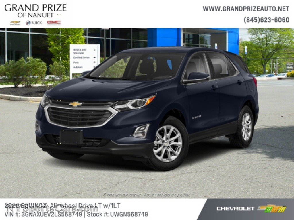 Midnight Blue Metallic / Jet Black Chevrolet Equinox LT AWD