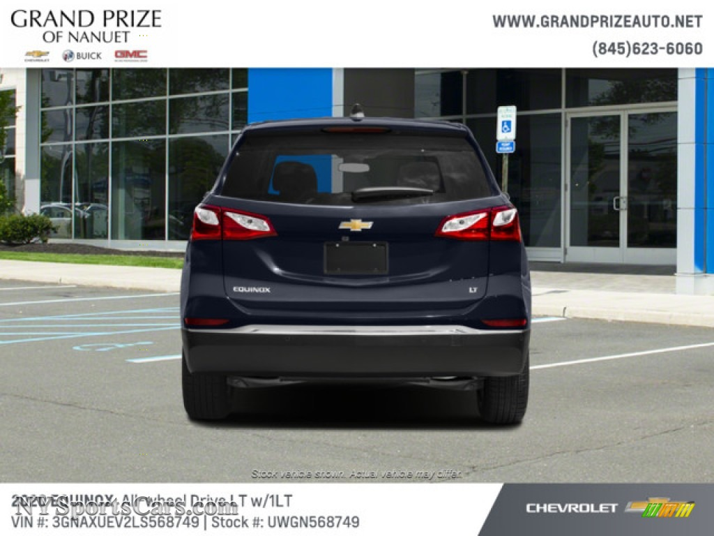 2020 Equinox LT AWD - Midnight Blue Metallic / Jet Black photo #8