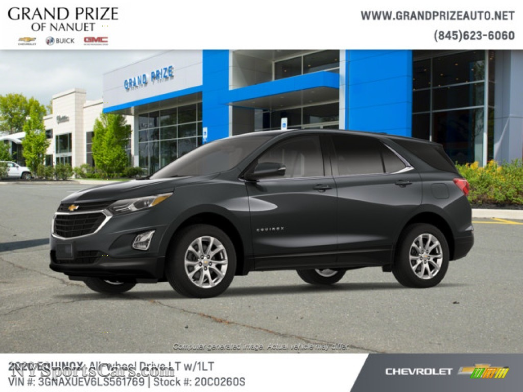 2020 Equinox LT AWD - Nightfall Gray Metallic / Jet Black photo #2