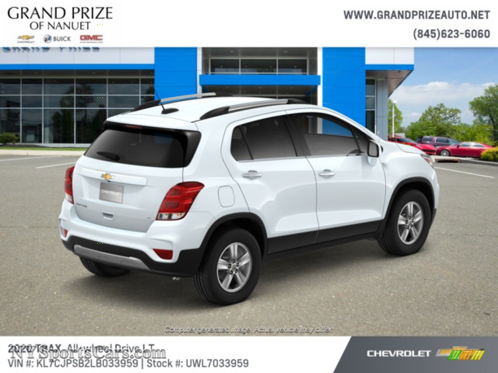 2020 Trax LT AWD - Summit White / Jet Black photo #4
