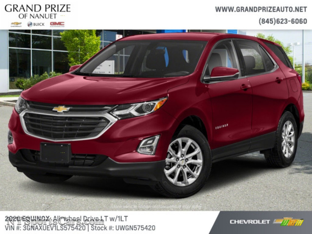 Cajun Red Tintcoat / Jet Black Chevrolet Equinox LT AWD
