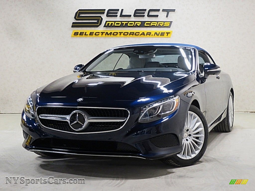 Lunar Blue Metallic / Crystal Grey/Black Mercedes-Benz S 550 Cabriolet
