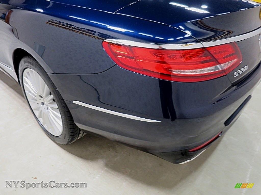 2017 S 550 Cabriolet - Lunar Blue Metallic / Crystal Grey/Black photo #12