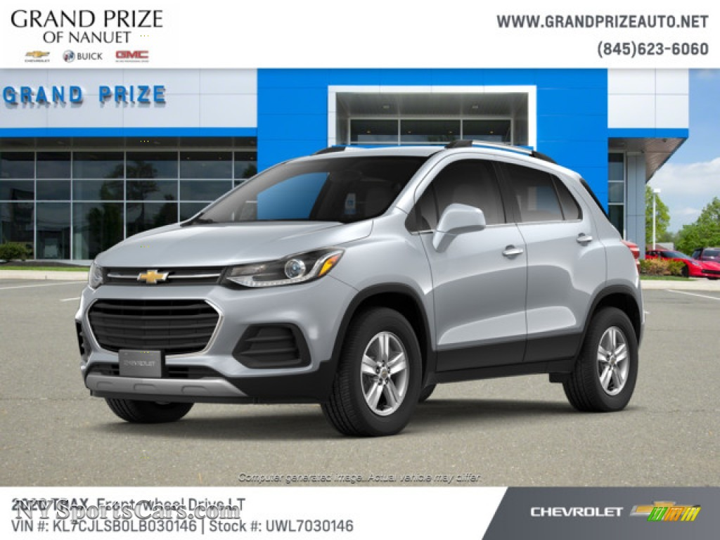Silver Ice Metallic / Jet Black Chevrolet Trax LT