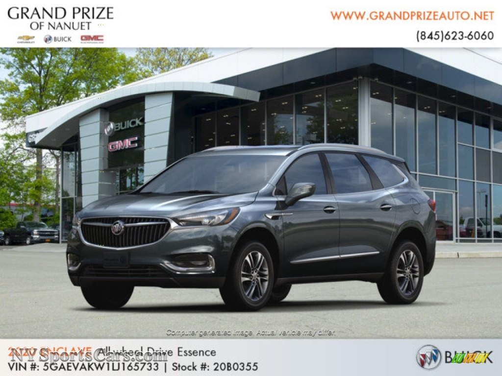 Dark Slate Metallic / Dark Galvinized/Ebony Buick Enclave Essence AWD