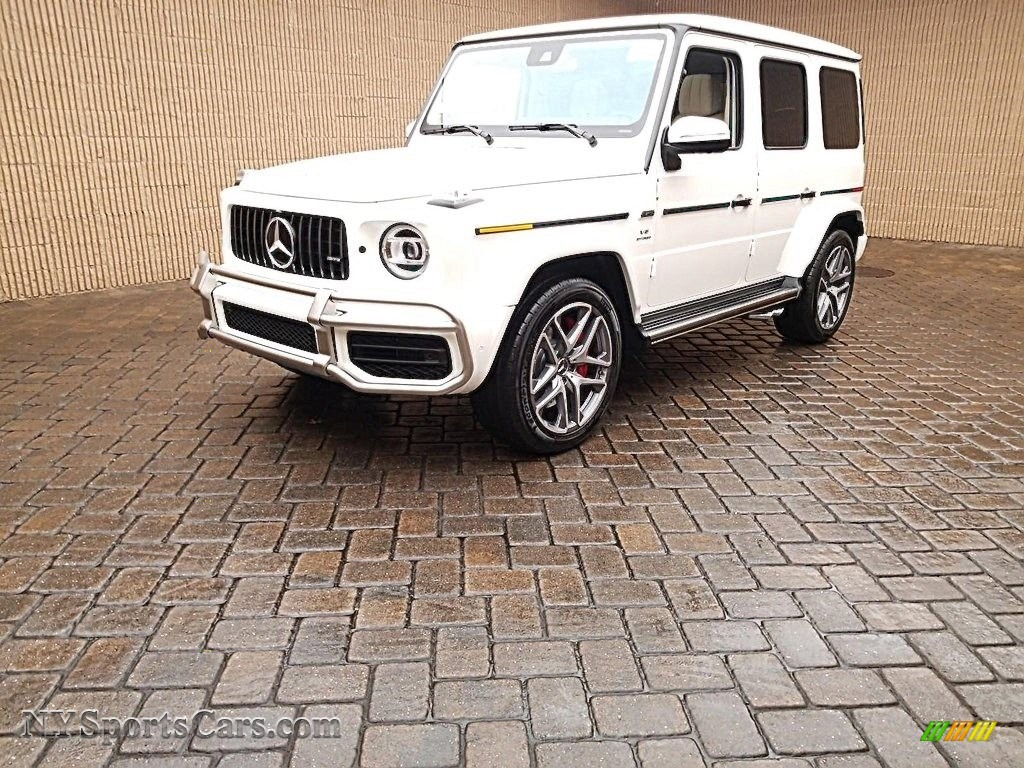 designo Diamond White Metallic / designo Macchiato Beige/Espresso Brown Mercedes-Benz G 63 AMG