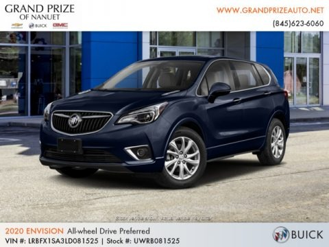 Dark Moon Blue Metallic 2020 Buick Envision Preferred AWD