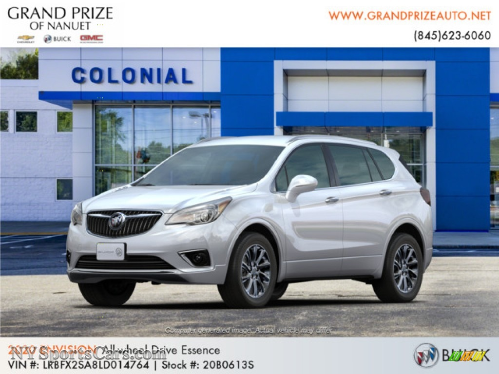 Summit White / Ebony Buick Envision Essence AWD