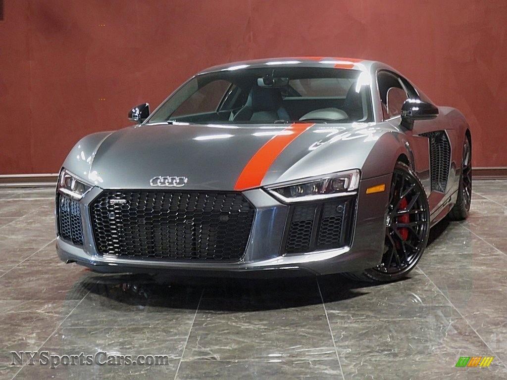 2018 R8 V10 - Daytona Gray Pearl / Black photo #1