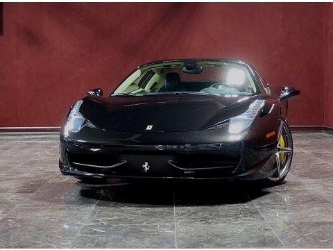 Nero Daytona (Black Metallic) 2014 Ferrari 458 Spider