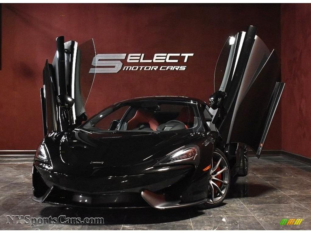 2019 570S Spider - Onyx Black / Jet Black/Apex Red photo #1