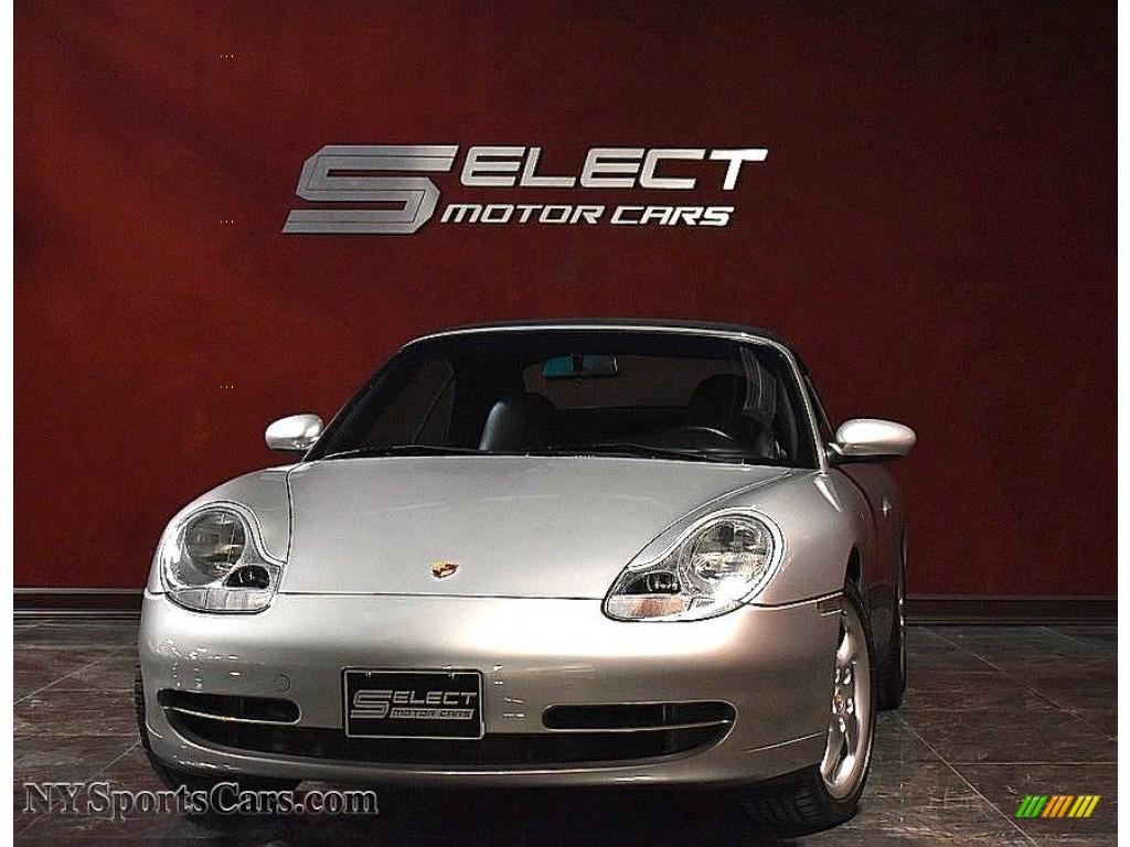 2000 911 Carrera 4 Cabriolet - Polar Silver Metallic / Black photo #1