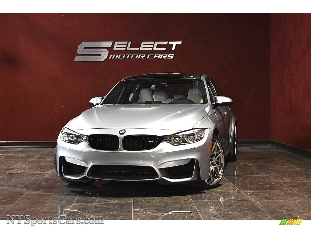2017 M3 Sedan - Silverstone Metallic / Individual Opal White photo #1