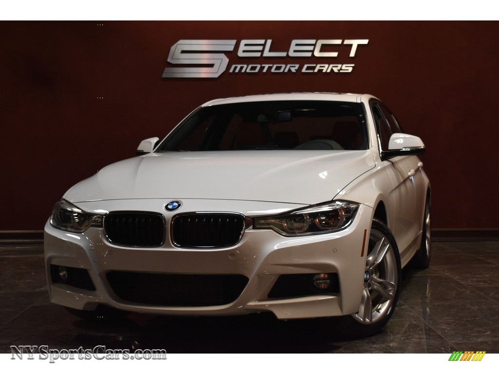 Alpine White / Coral Red BMW 3 Series 330i xDrive Sedan