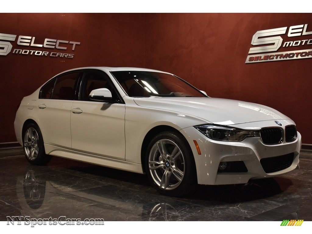 2017 3 Series 330i xDrive Sedan - Alpine White / Coral Red photo #3
