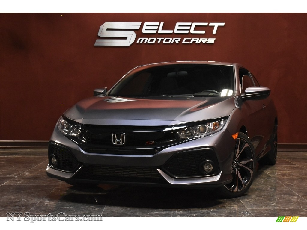 Modern Steel Metallic / Black Honda Civic Si Coupe