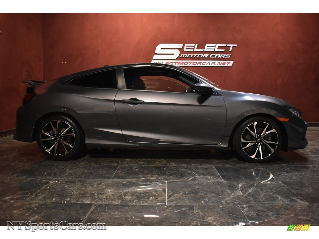 2017 Civic Si Coupe - Modern Steel Metallic / Black photo #4