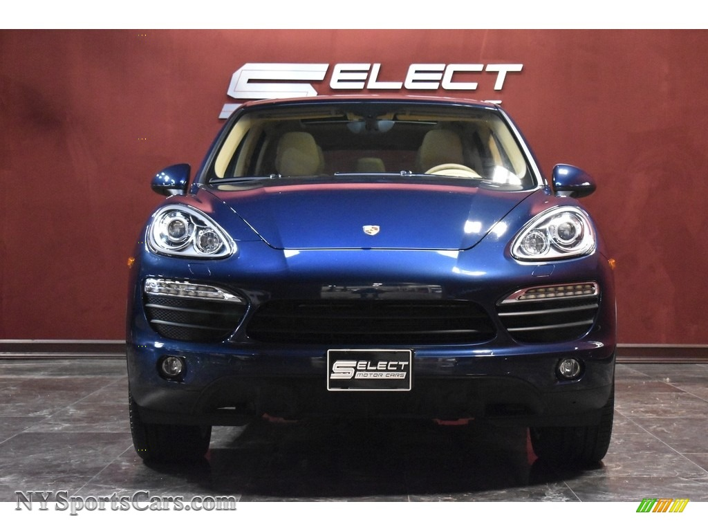 Dark Blue Metallic / Luxor Beige Porsche Cayenne S