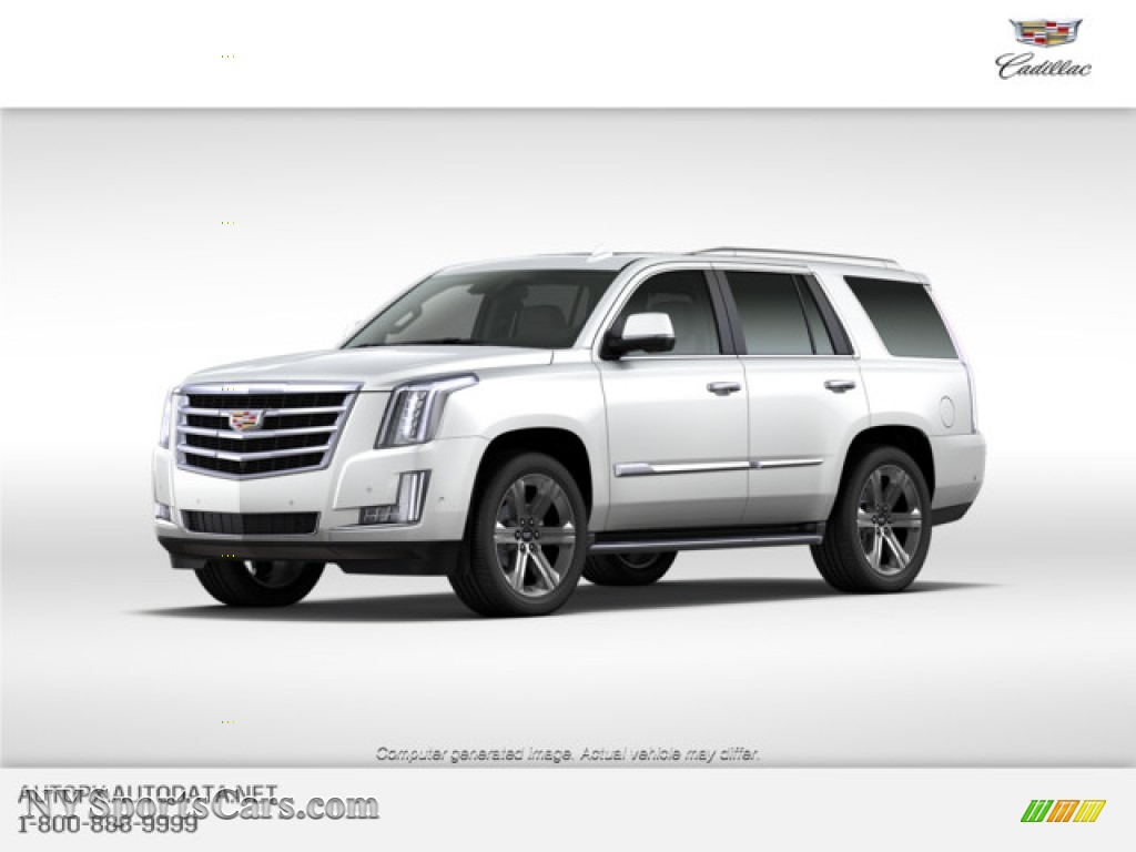 Crystal White Tricoat / Jet Black Cadillac Escalade Luxury 4WD
