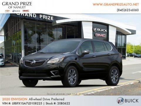 Ebony Twilight Metallic 2020 Buick Envision Preferred AWD
