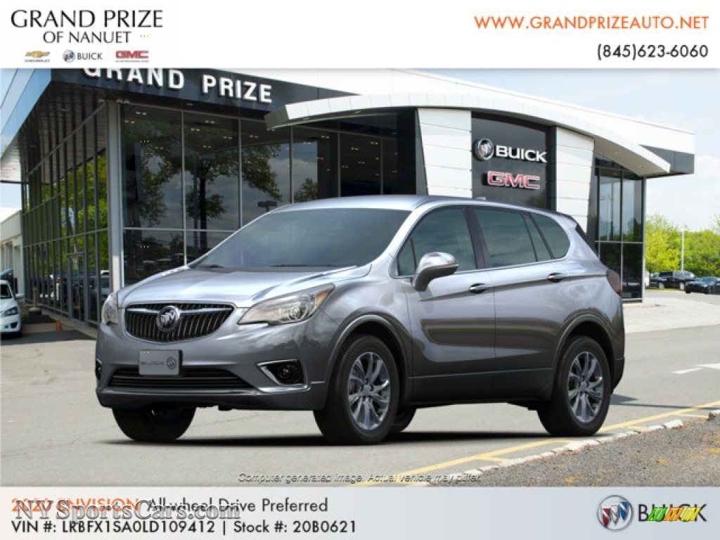 Satin Steel Metallic / Light Neutral Buick Envision Preferred AWD