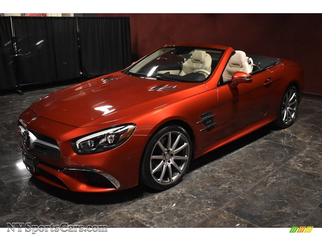 2017 SL 550 Roadster - designo Cardinal Red Metallic / Porcelain/Black photo #5