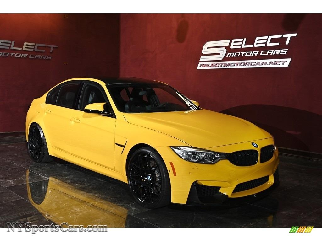 2017 M3 Sedan - Speed Yellow / Black photo #3