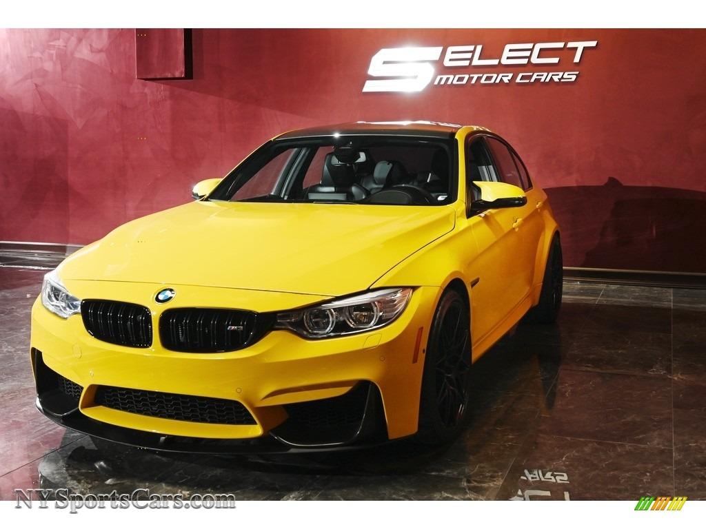 2017 M3 Sedan - Speed Yellow / Black photo #4