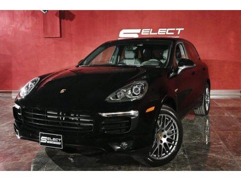 Black 2018 Porsche Cayenne E-Hybrid Platinum Edition
