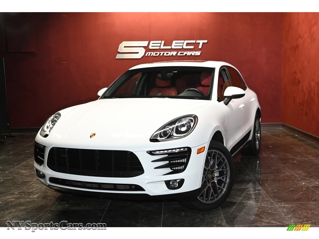 2016 Macan S - Carrara White Metallic / Black/Garnet Red photo #1
