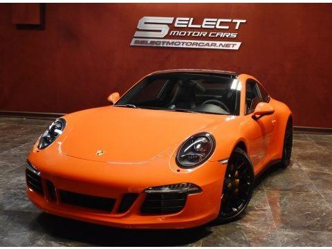 Lava Orange 2016 Porsche 911 Carrera GTS Coupe