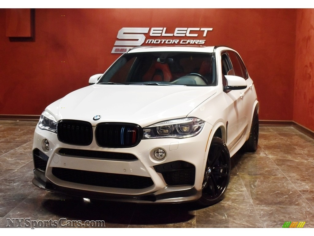 Mineral White Metallic / Mugello Red BMW X5 M xDrive