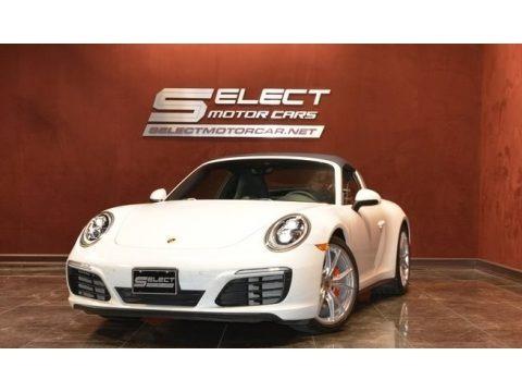 White 2018 Porsche 911 Targa 4S