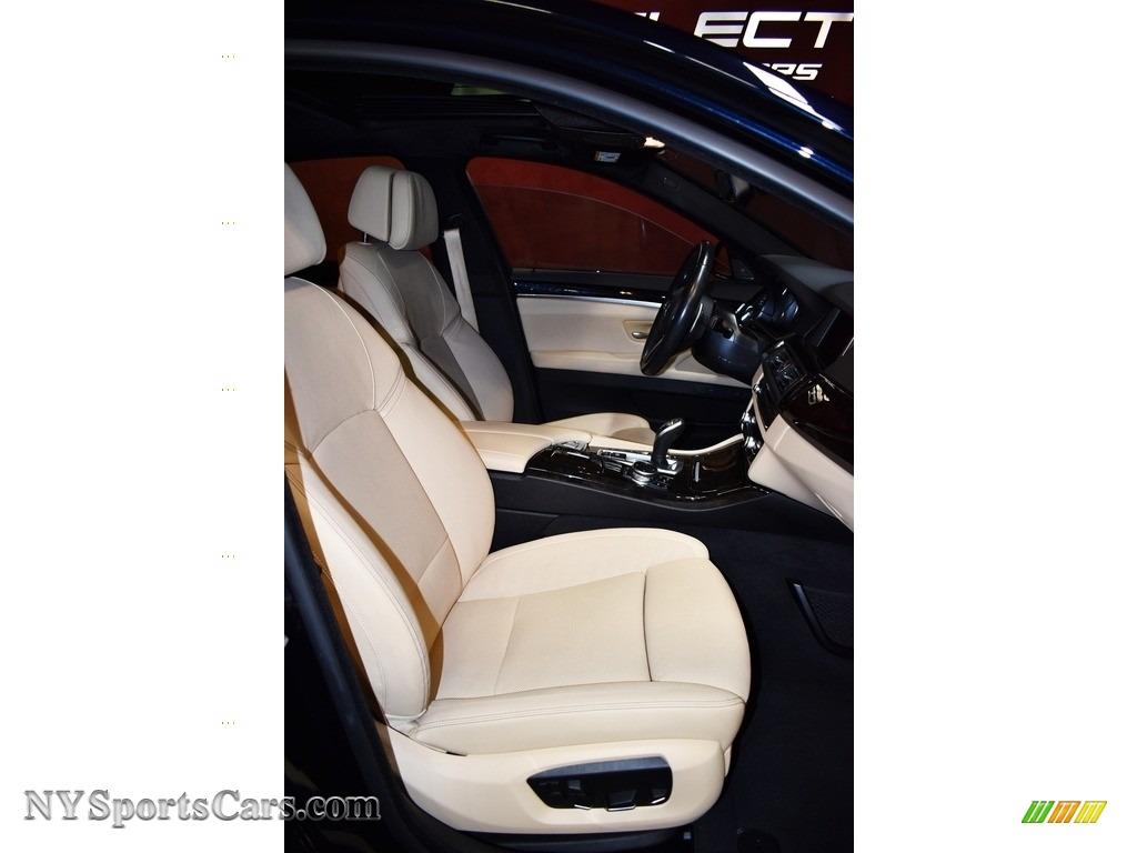 2016 5 Series 535i xDrive Sedan - Carbon Black Metallic / Venetian Beige/Black photo #12