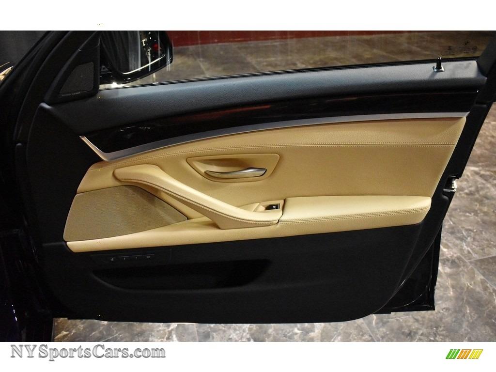 2016 5 Series 535i xDrive Sedan - Carbon Black Metallic / Venetian Beige/Black photo #16