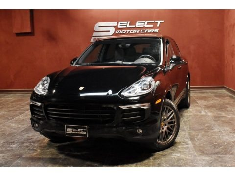 Black 2017 Porsche Cayenne Platinum Edition