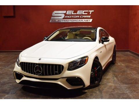 designo Diamond White Metallic 2019 Mercedes-Benz S AMG 63 4Matic Coupe