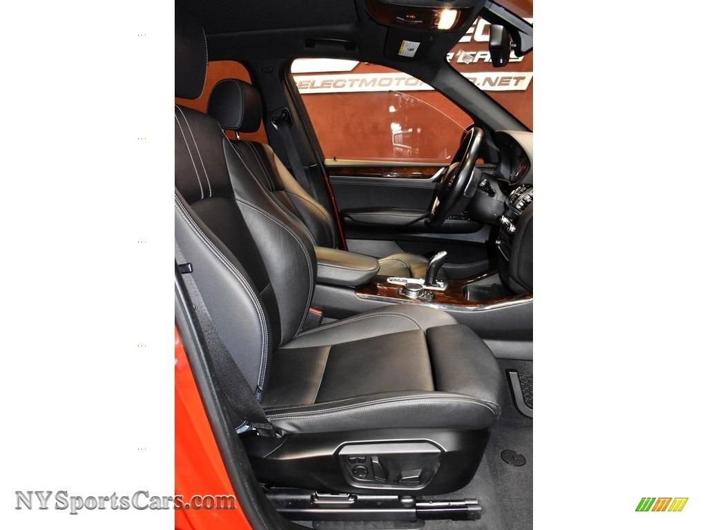 2016 X3 xDrive28i - Melbourne Red Metallic / Black photo #13